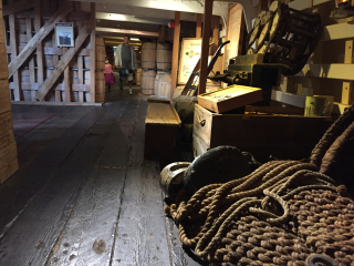 Bal below deck